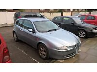 BARGAIN SPARES REPAIR LOOK ALFA ROMEO 147 1.6 120BHP LUSSO BLUE LEATHERS NO MOT