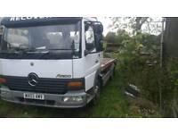 Mercedes 815 tilt slide recovery truck