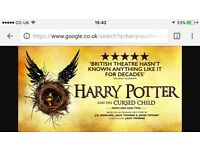SWAP: Harry Potter Theatre Tickets Part 1 &2 (2 tickets x2 plays)