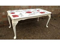 Shabby Chic themed rustic coffee table