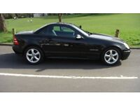 mercedes slk200vvertautomatic blackwith black leather new mot very clean and tidy drives very well.