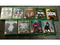 Xbox one games. Prives below