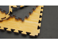 50 x 30mm Premium Woodgrain Jigsaw Mats for Fitness, Martial Arts, Karate, Kickboxing, CE certified