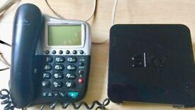 SKY BOX & TELEPHONE IN GOOD WORKING ORDER