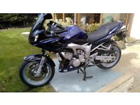 yamaha fz6 for sale new full years mot new tyres and service.