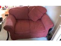 Oakridge / SofaSofa Madrid 2 Seat Sofa + Cushion + Footstool + 2 x Arm Covers - FREE TO COLLECT