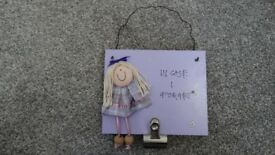 BRAND NEW Handmade Freya Design Purple 'In Case I Forget' Door/ Noticeboard Sign