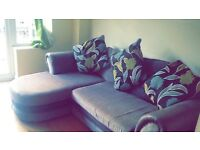 Excellent condition sofa!! Grey , allCushions included