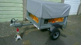Erde 102 Trailer with high extension kit