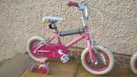 Girls Pink Princess 12 Inch Kids Bike No.1