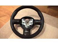 Genuine JCW mini carbon alcantara steering wheel R50 NEW