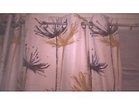 next ring top fully lined curtains 90x90