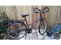 "Ladies touring bike 21 speed locking system and lights 28"" wheels"