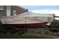 15ft speed boat and trailer no engine