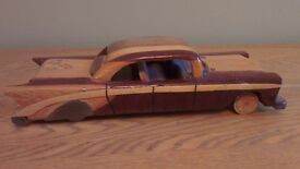 Ornamental wooden Chevrolet fifty five made in CUBA