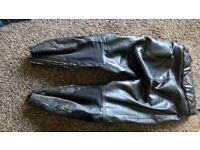 rk sports leather bike jeans