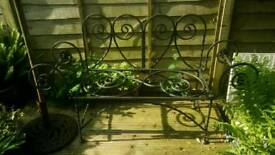 Wrought iron garden seat