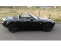 Black Mazda MX5- 1.8 (new engine fitted 5 years ago)