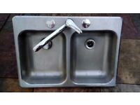 Double sink for campervan