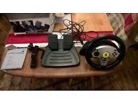 PlayStation 2 thrustmaster 2 racing wheel