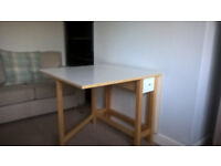 White Drop Leaf Dining Table