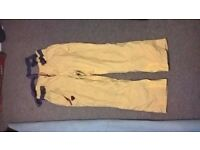 Degre 7 Mens XL Salopettes - Yellow