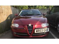 03 plate Alfa Romeo 147 t spark 11 months mot
