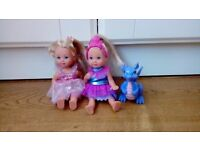 duo fairy dolls and dragon
