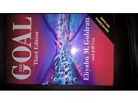 The Goal, third edition by Eliyahu M. Goldratt, isbn 978056608665 new unused, paperback,pick up only