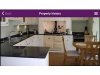 Kitchen units, work tops and integrated appliances