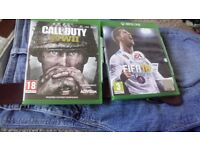 Call of Duty WW2 & FIFA 18 XBOX ONE both for £60 ono.