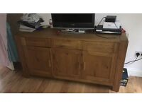 Solid Real Oak Sideboard (3 drawers and 3 cupboards)