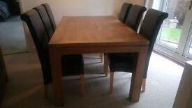 oak dining room furniture