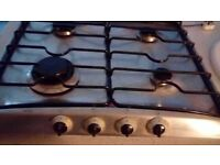 Gas hob. Good condition with all fittings