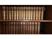 Charles Dickins The Works set of 31 books gold brown hardbacks Published By Chapman And Hall