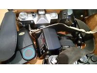 Cameras, Lens and Bag.