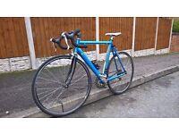 Coppi lightweight carbon fork road bike racer 18 speed integrated tiagra groupset