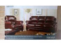 Harveys Devon 3 seater Leather sofa