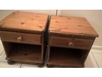 BED SIDE TABLE X 2 PAIR