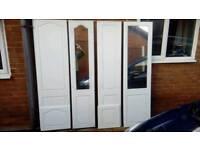 John Carr white wardrobe doors