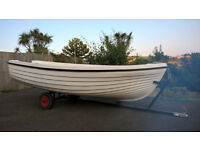 Boat Seahawk 12 Fishing / Family Dinghy 12Ft fibreglass with 6hp Suzuki Outboard
