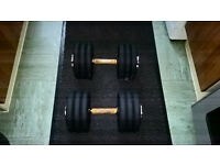 2 x 30kg Fixed Cast Iron Dumbells