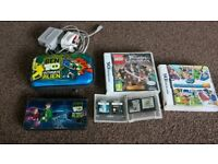 Dsi console with 6 games, case and charger