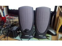 pair of dell computer speakers