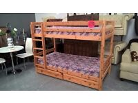 wooden bunk beds nice quality with drawers and mattresses for 125