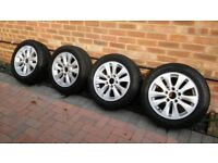 BMW Alloy Wheels & Winter Tyres Goodyear Ultragrip 7+ winter tyres BMW 1 Series E87 with 205/55/16