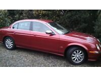 Jaguar S Type Red Classic 2004, 3 litre petrol, motd for 12 months 107000, £1450