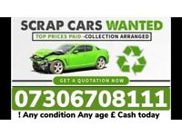 ✅🔴 SCRAP CARS AND VANS WANTED ANY CONDITION SELL MY VEHICLE FAST CASH ON COLLECTION TODAY