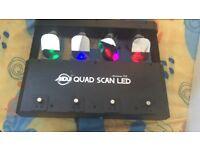 American DJ Quad Scan LED 4 Head Tri Colour Scanner/Disco party lights
