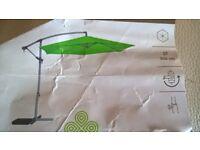 green hanging parasol